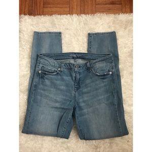 Michael kors light wash skinny jeans